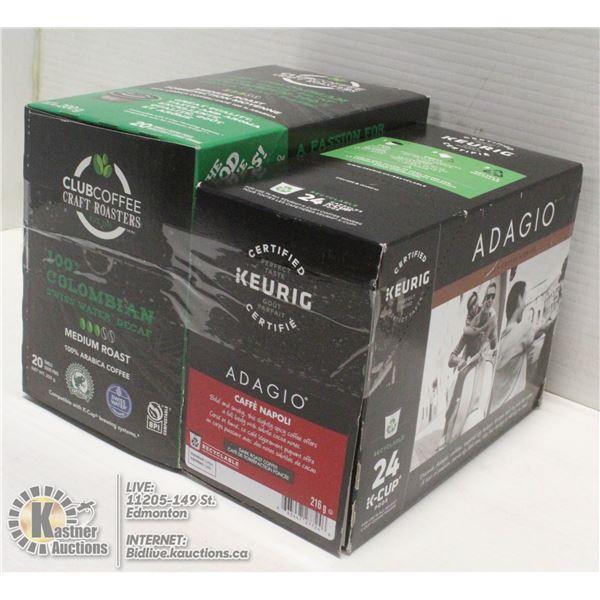 KEURIG DECAF & REGULAR COFFEE PODS 2 BOXES