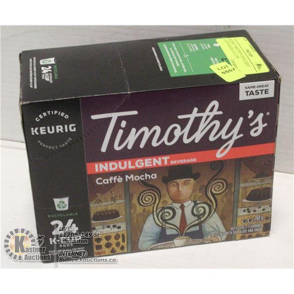KEURIG TIMOTHY'S INDULGENT CAFFE MOCHA 24 CUPS