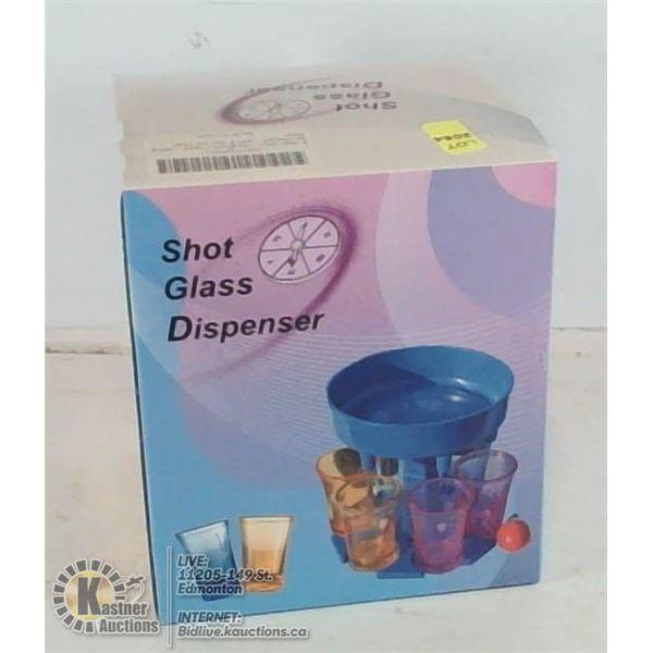 6 AT A TIME SHOT GLASS DISPENSER.