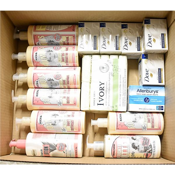 FLAT LOT OF TOP END SOAP PRODUCTS
