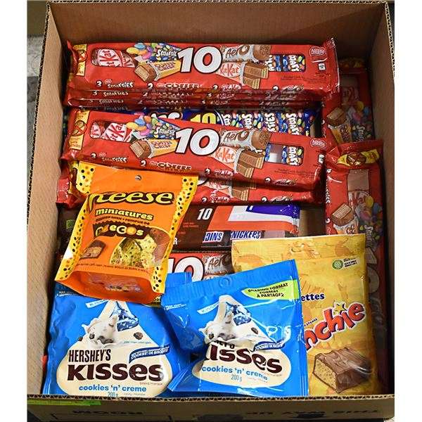 FLAT LOT OF BRAND NAME CHOCOLATE CANDY