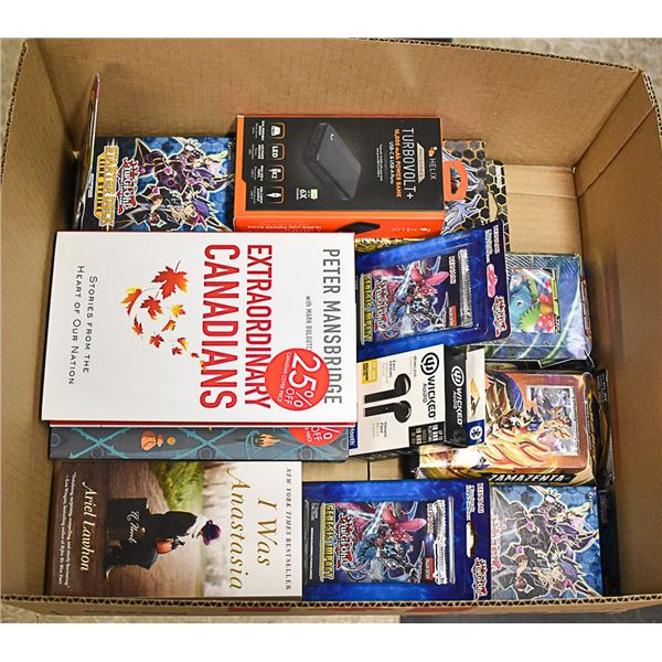 FLAT LOT OF NEW ASSORTED CARDS AND BOOKS
