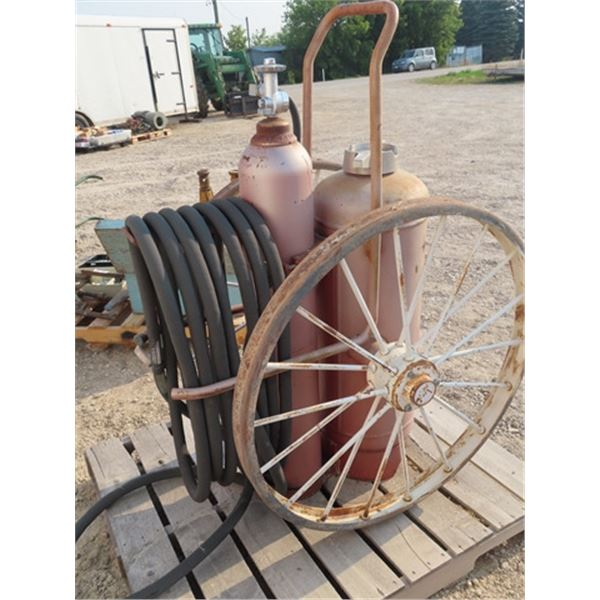 """Walk Behind on Steel Wheels , Fire Extinguisher """"Ansel' Dry Chemical"""