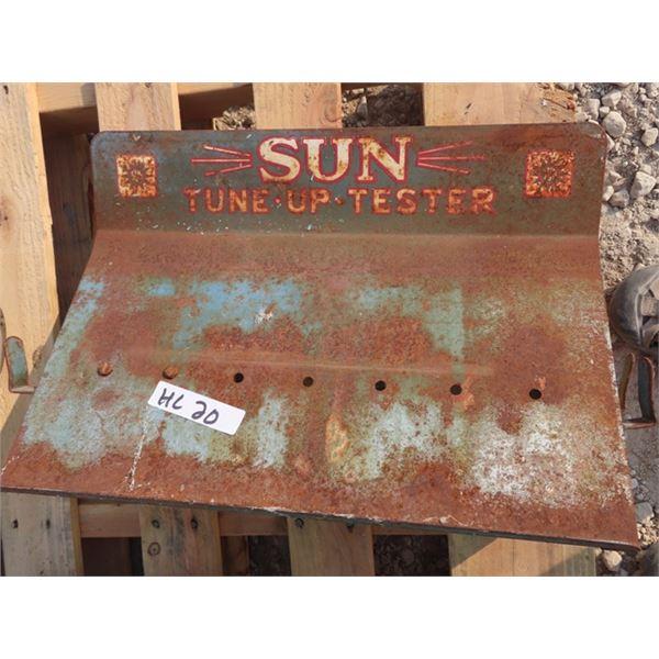 "Metal Sun Tune Up Sign 14"" x 20"""