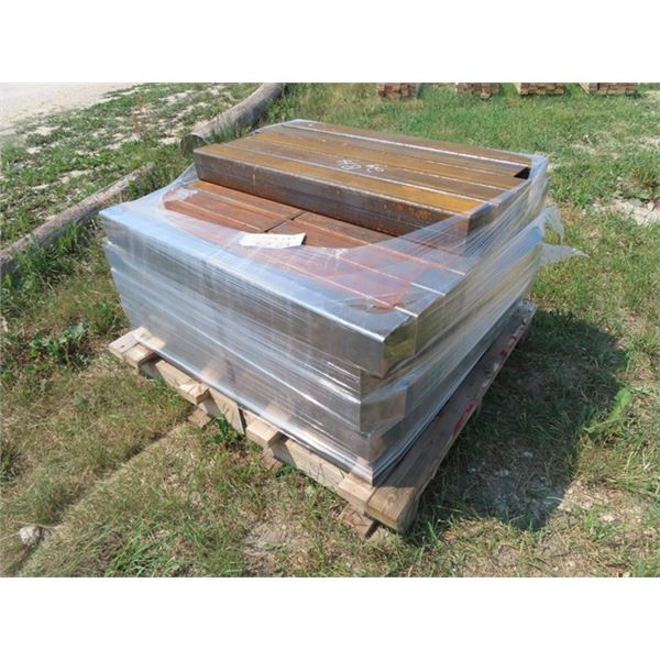 """Metal Tubing 4"""" x 4"""" Approx 40"""" Long - Approx 55 Pieces - 1722 LBS Approx"""