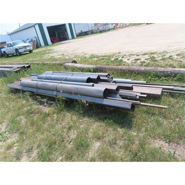 """Various Size Metal Cut Off, Pipe Tubing 2"""" - 8"""" 6' - 20 ' - Approx 2660 LBS"""