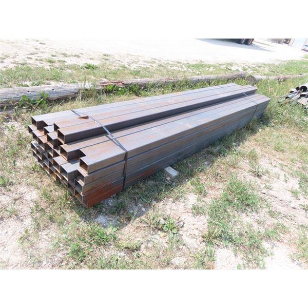 """42 Pcs Metal Tubing 3"""" x 4"""" - 13' Long Approx 2843 LBS"""