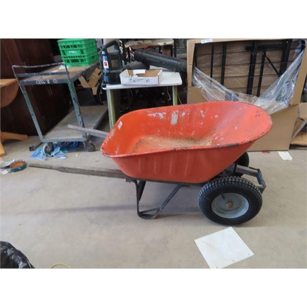(J) 2 Wheel Yard Cart / Wheel Barrow