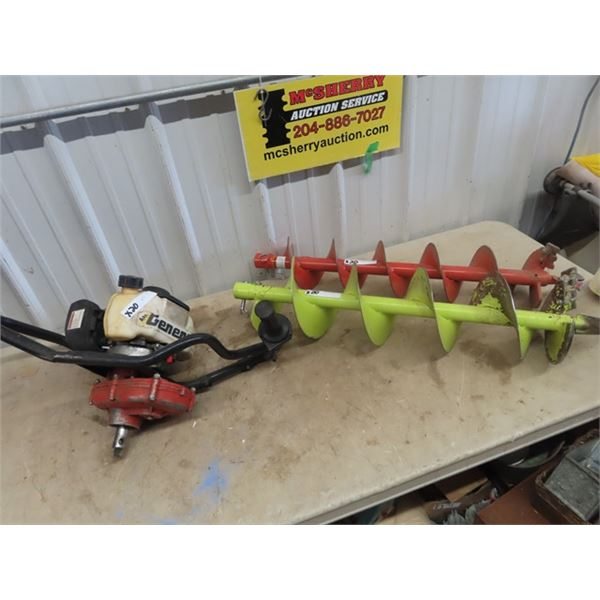 """General Gas Ice/ Post Hold Auger 6"""" & 9"""" Auger"""