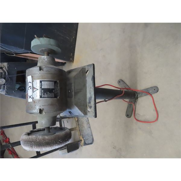 1/2 HP Bench Grinder/ Buffer on Stand