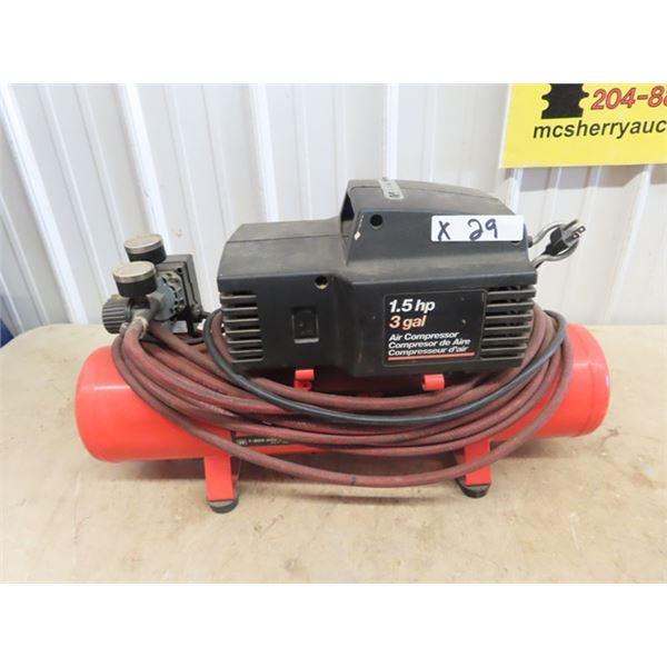 Pro Air II Delivis 1 1/2 HP 3 Gal Air Comp