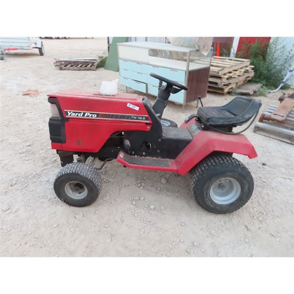 Yard Pro 12.5 HP - Runs, But has a Flat Tire, But Have An Extra One for it, No Deck, Grass Bagger Sy
