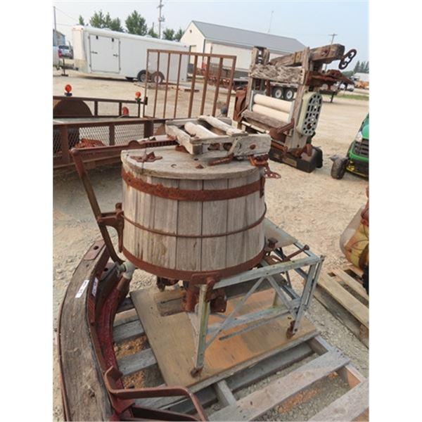 Wooden Barrel Style Washing Machine
