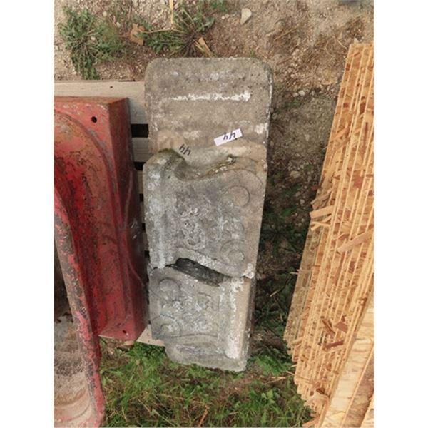 "Cement Yard Bench 50""W"