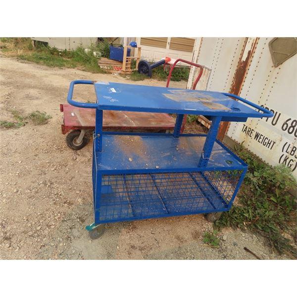 "Metal Portable Shop Cart 3 Tier 40"" 54""W 22""D"