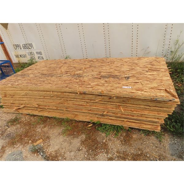 39 Pcs OSB 4 X8 Sheets- New But Flakey, Buyer Beware- Come View Prior to Bidding to Understand the P