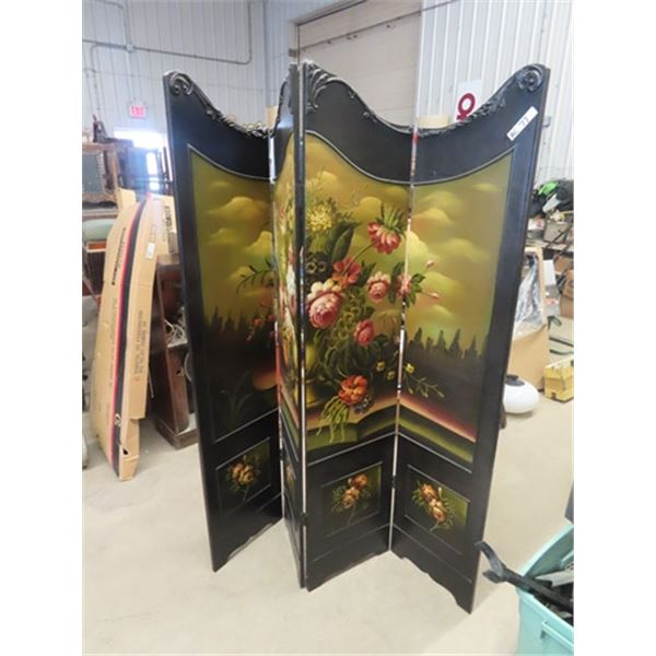 """Beautiful Painted Room Divider 72""""H 64""""W"""