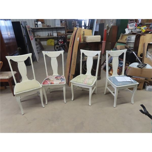4 Painted Dining Room Chairs