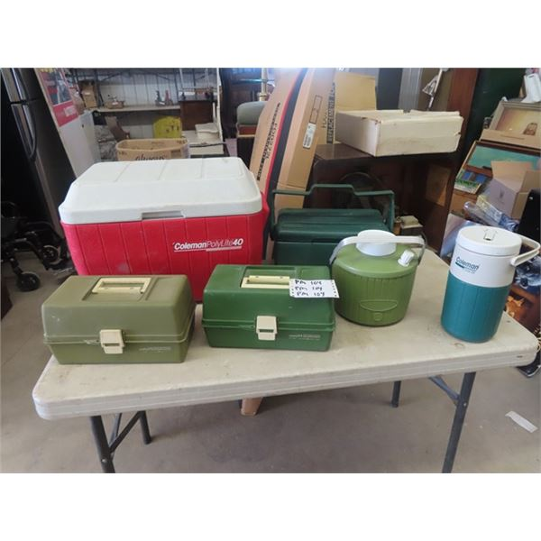 Coolers, &  Fishing Tackle Boxes