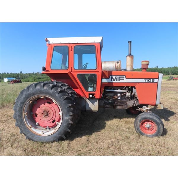 MF 1105 Dsl Cab Tractor w High-Low Multipower Transmission, 3PTH, Dual Hyd, 540 PTO & 16.9-38 Duals