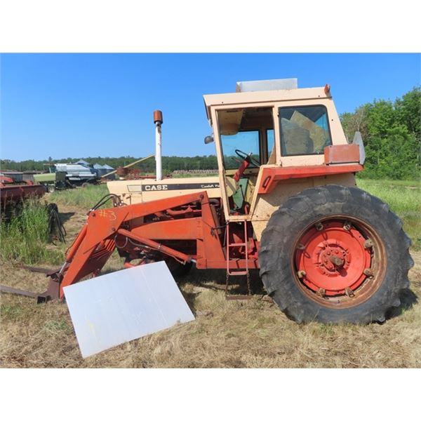 Case 930 Dsl Cab Tractor w High Low Range Transmission, 540 PTO, Dual Hyd & 18.4-38 Tires -Comes w C