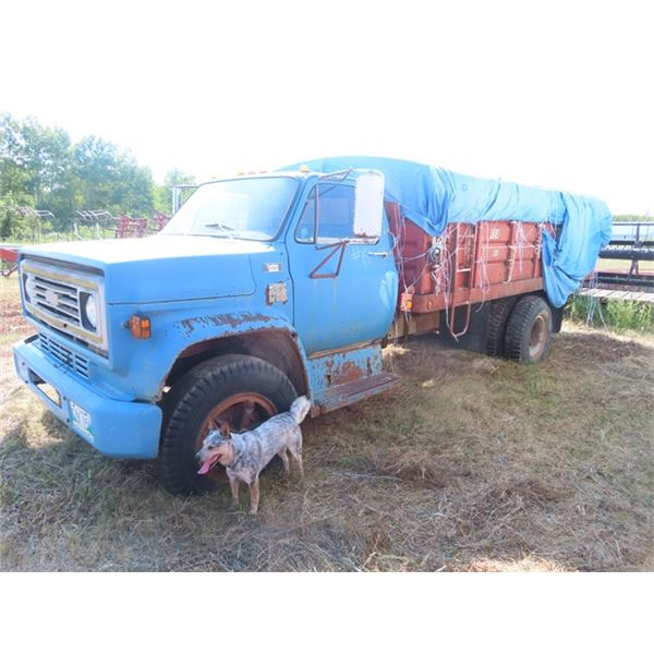 1975? Chevy C65 Gas 5 Speed X 2 w 16' Box&Hoist 60,435 Miles S# CCE666V116182 *No Safety *No TOD