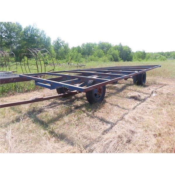 24' Steel Deck Hay Trailer w 3PTH Pintle Hitch & Rear Duals 8.25-20