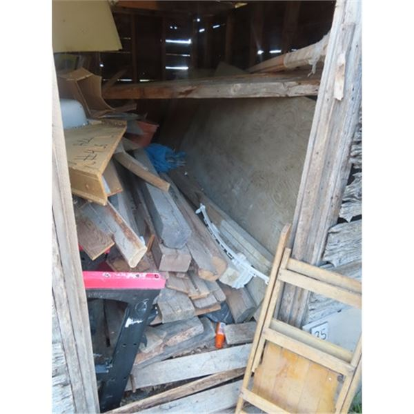 (1) 4x8 3/4'' Sheet of Treated Plywood, (4) Sheets 1/2'' Nontreated Plywood, (15) Sheets 1/4'' Plywo