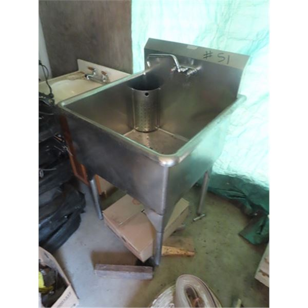 Stainless Steel Commercial Sink 36'' H x 28'' W x 27'' D