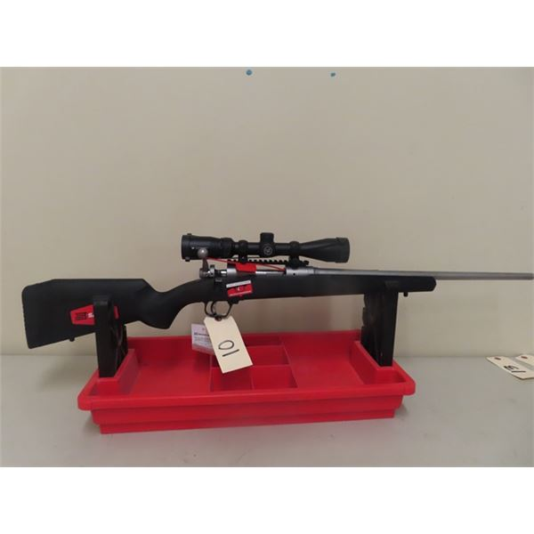 New Savage Mdl 110 AP STM XP 223 Rem BA S#N920711 Scope Crossfire 3-9x 40, Stainless Barrel, w 1 Mag