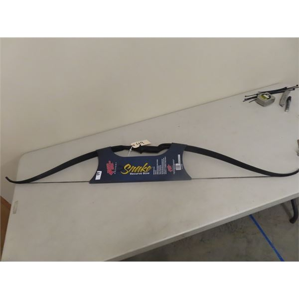 New PSE Snake Recurve Bow Draw Weight 25 Lbs Draw Length 60''