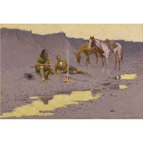 Frederic Sackrider Remington  - A New Year on the Cimarron