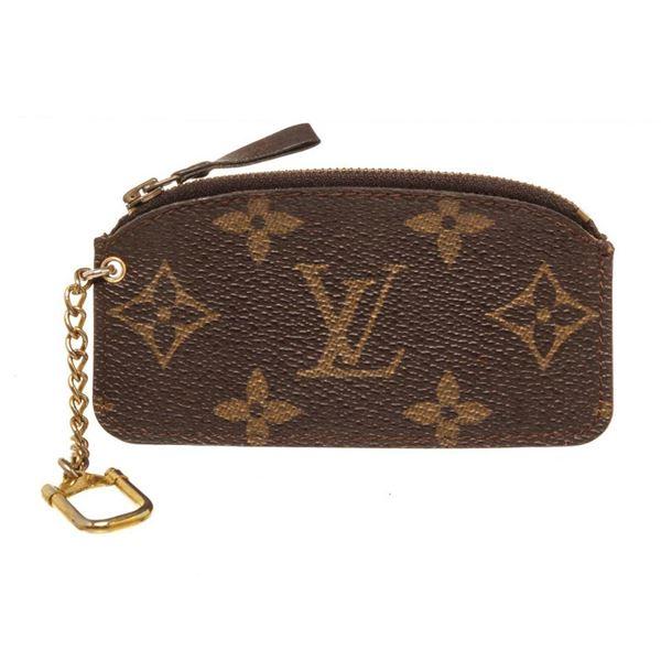 Louis Vuitton Brown Monogram Vintage Pochette Cles Wallet