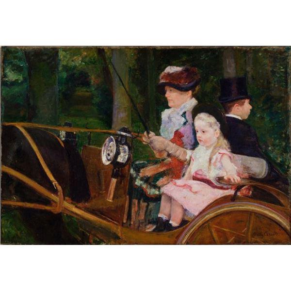 Cassatt - A Woman and a Girl Driving