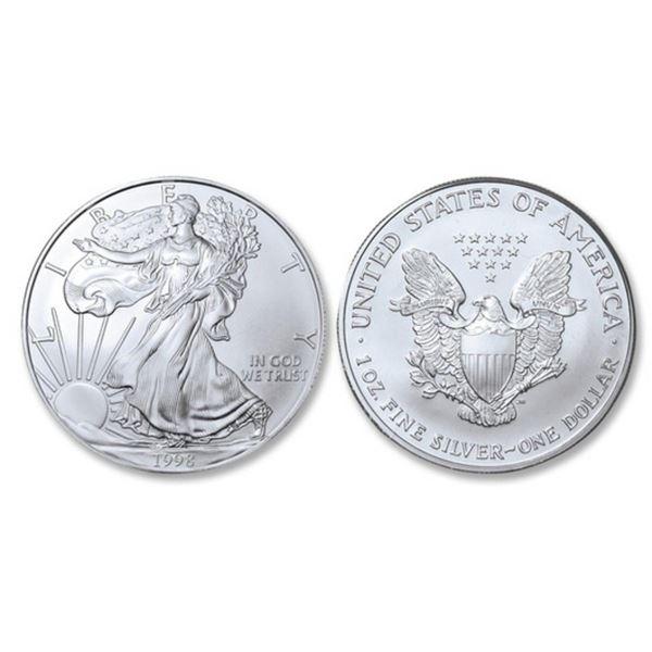 1998 American Silver Eagle .999 Fine Silver Dollar Coin