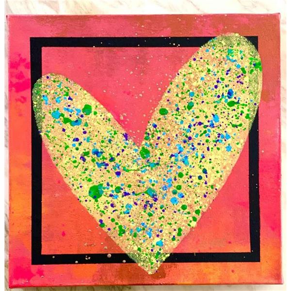 "Paulina Del Mar ""Hot Pink with Yellow Heart"""