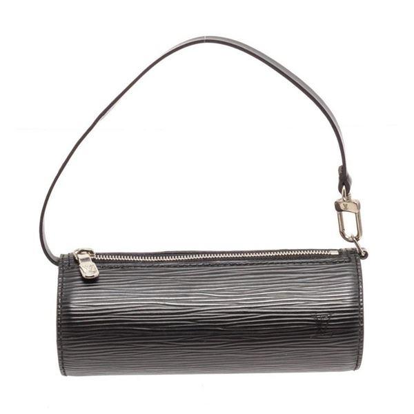 Louis Vuitton Black Epi Leather SHW Mini Papillon Wristlet Bag