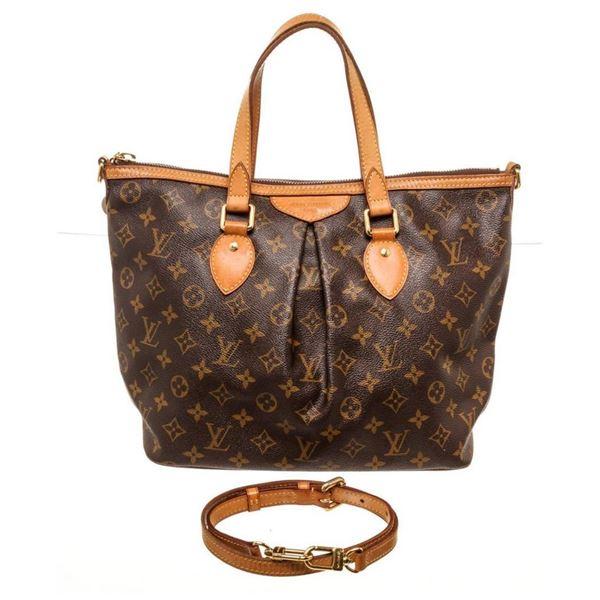 Louis Vuitton Brown Palermo PM Totes Bag