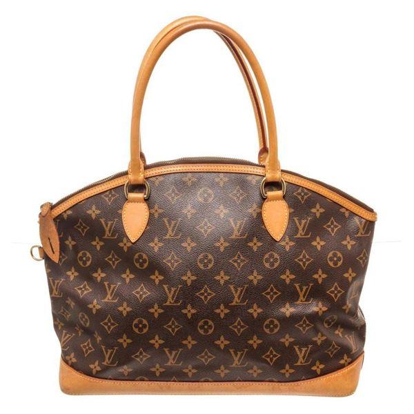 Louis Vuitton Brown Lockit It Horizontal Tote Bag