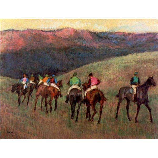 Edgar Degas - Jockeys In Training