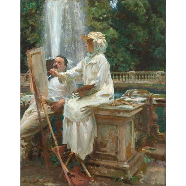 Sargent - The Fountain in Villa Torlonia Italy