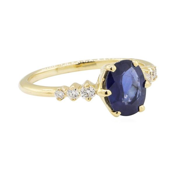 1.43 ctw Sapphire and Diamond Ring - 14KT Yellow Gold