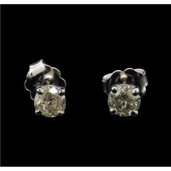 14KT White Gold 0.62 ctw Diamond Stud Earrings