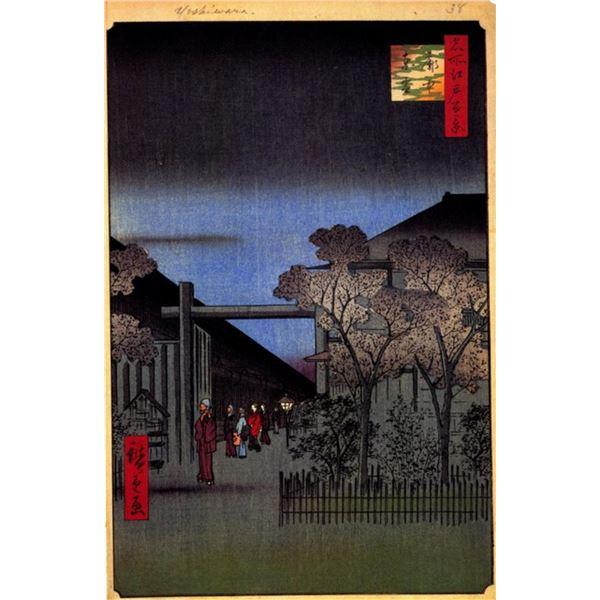 Hiroshige Dawn Inside the Yoshiwara