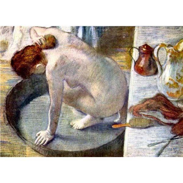 Edgar Degas - Woman Washing In The Tub