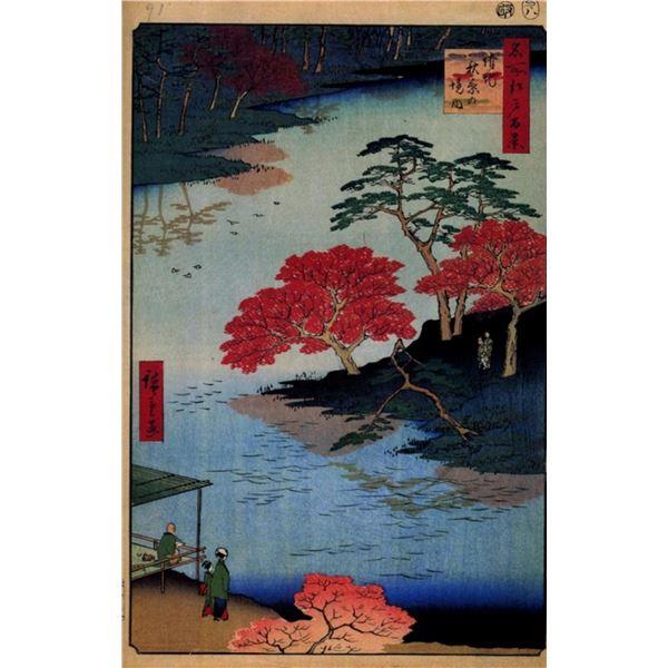 Hiroshige  - Inside Akiba Shrine