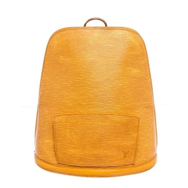 Louis Vuitton Yellow Epi Leather Gobelins Backpack