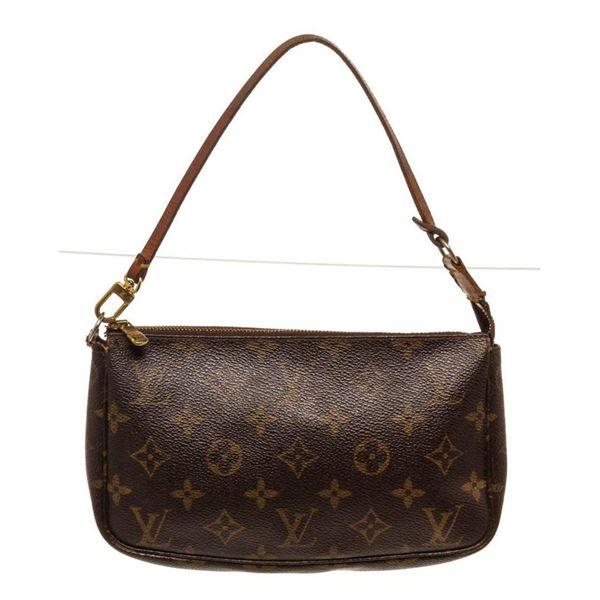 Louis Vuitton Brown Monogram Pochette Wallet