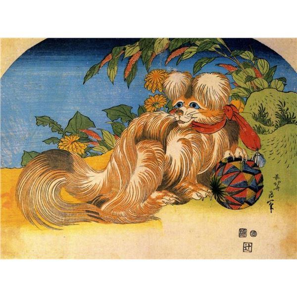 Hokusai - Tschin - The Pet Dog
