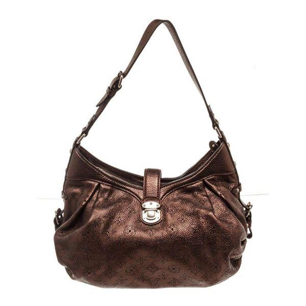 Louis Vuitton Brown Monogram Mahina Large Hobo Bag